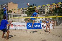 Ve sportovním areálu na Pankráci se konalo  beachvolejbalové mistrovství republiky klubů.