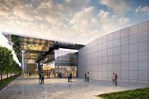 Vizualizace. Multifunkční a kongresové centrum O2 universum.