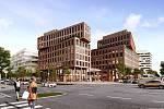 Rohan City - vizualizace. Kancelářské budovy od týmu architekta Jakuba Cíglera