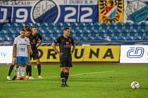 Utkání 6. kola fotbalové Fortuna ligy: FC Baník Ostrava - Slavia Praha, 4. října 2020 v Ostravě. Nicolae Stanciu ze Slavie.