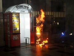 Požár automatu.