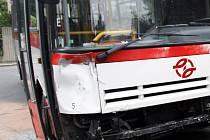 Havárie autobusu. Ilustrační foto.