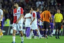 LOUČENÍ. Slávisté byli před domácí odvetou proti Fiorentině optimističtí. Po zápase však odcházeli ze hřiště zklamaní.