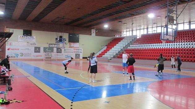 Velká sportovní hala SK Slavia.