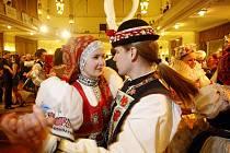Moravský ples v Národním domě v Praze na Smíchově.