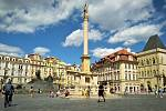 Mariánský sloup na Staroměstském náměstí.
