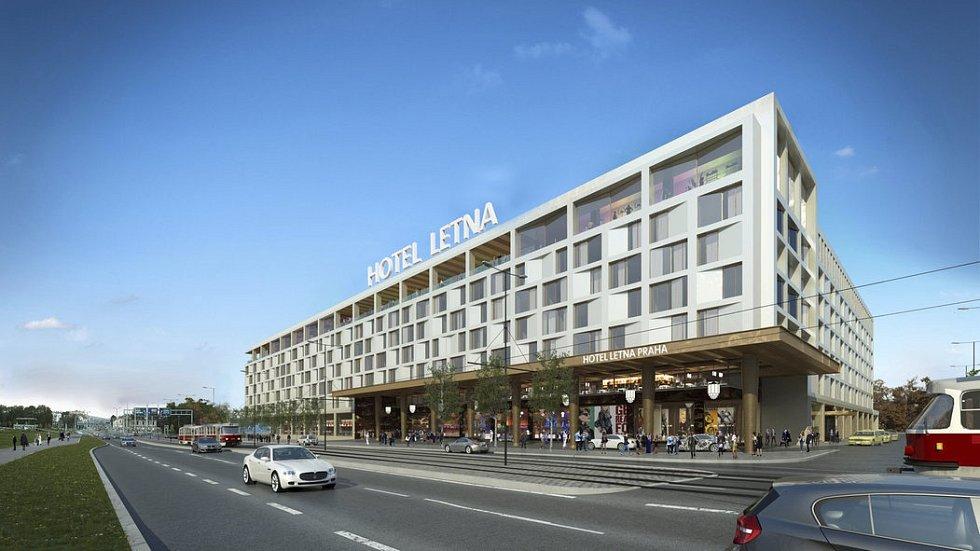 Vizualizace hotelu Letná.