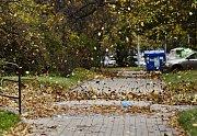 Silný vítr v Praze v neděli 29.října.