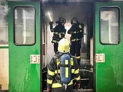 Oheň ve vagonu.