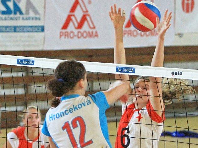 Slávistické volejbalistky podlehly Prostějovu.