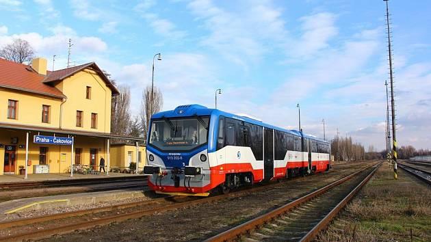 Motorová jednotka 813 společnosti KŽC Doprava.
