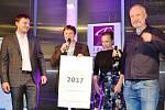 Ze slavnostního křtu benefičního kalendáře Český Goodwill 2017 v prostorách Tiskárny Liberta v Praze.