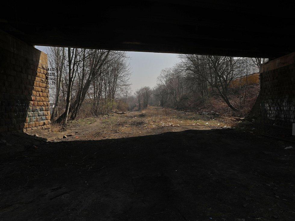 Současný stav Nákladového nádraží Žižkov.