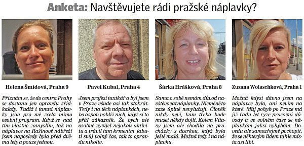 Anketa: Navštěvujete rádi pražské náplavky?