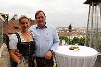 Do Prahy přijel kuchař Peter Pichler s manželkou, aby ukázal návštěvníkům večera věnovaného spolkové zemi na jihovýchodu Rakouska Štýrska, jaké se vaří speciality u nich doma nedaleko Schladmingu.