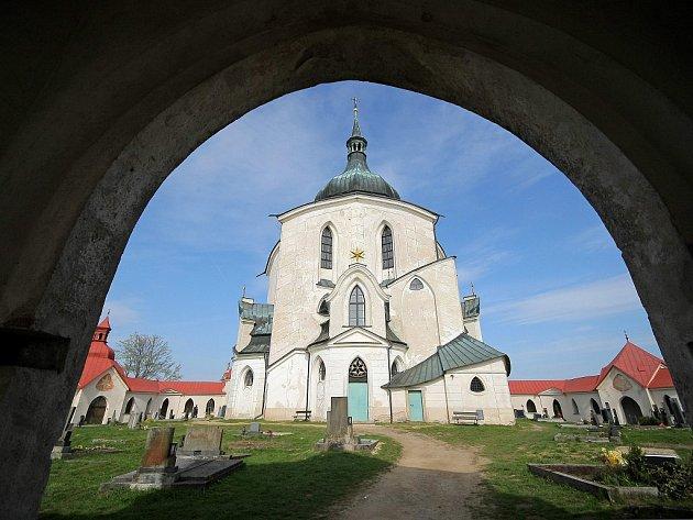 Zelená hora – kostel sv. Jana Nepomuckého nedaleko Žďáru nad Sázavou.