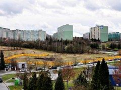 Roztyly - podoba staveniště v březnu roku 2015.