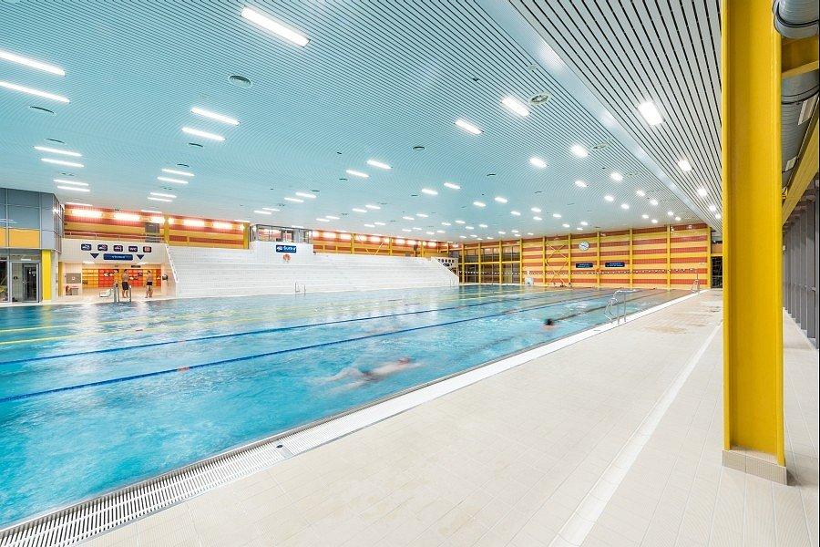 Aqucentrum Šutka. Padesátimetrový bazén.