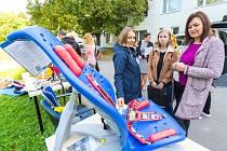 Z ukázek rehabilitačních pomůcek pro děti s postižením v sídle organizace EDA na pražském Chodově.