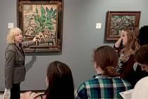 Komentovaná prohlídka v Národní galerii ve Veletržním paláci v Praze v rámci Mezinárodního dne muzeí.