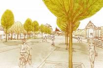 Vizualizace: Dvořákovo nábřeží v Praze by se podle studie Institutu a plánování a rozvoje mělo stát místem, kde lidé budou mít možnost trávit volný čas v příjemném prostředí.