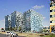 Vedle O2 areny vzniká kancelářská budova (vizualizace), jejímiž investory jsou Kaprain Group a Lighthouse Group.