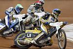 Závod motocyklů na ploché dráze. Ilustrační foto.