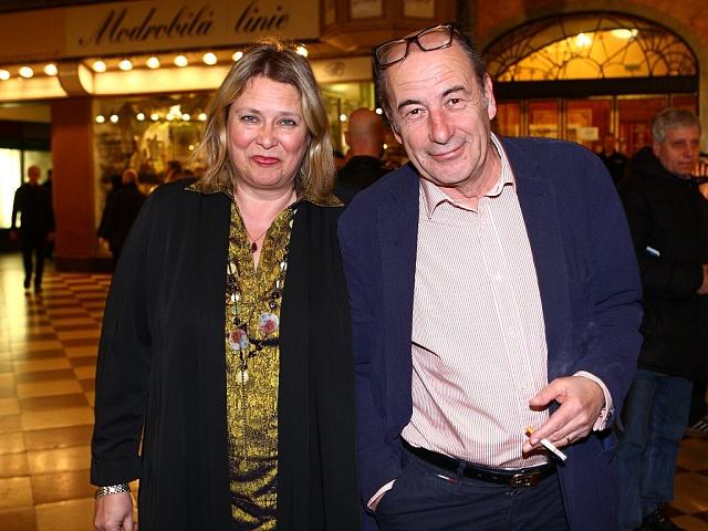 Michel Fleischmann s manželkou Kateřinou Lojdovou.
