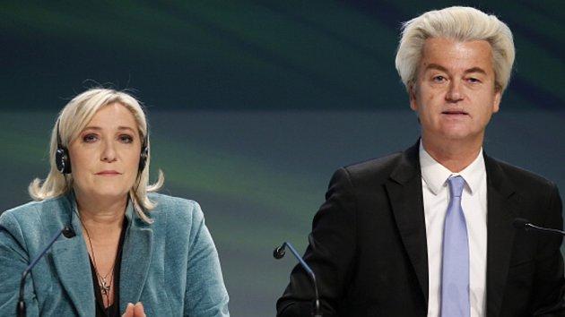 Marine Le Pen a Geert Wilders.