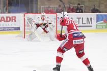 29. kolo první hokejové ligy: Prostějov - Slavia Praha 3:2 (1:0, 2:1, 0:1).
