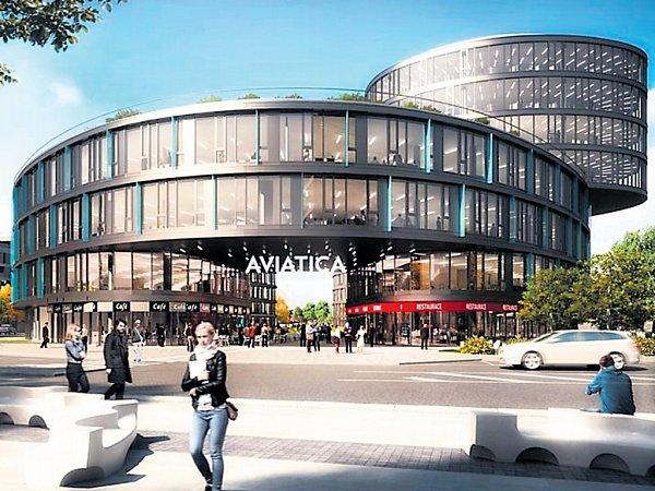 Ústřední dominantou nové čtvrti, situované vareálu bývalé jinonické Waltrovky, se stane administrativní budova snázvem Aviatica.