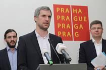 Představení programu nové koalice na Magistrátu hlavního města Prahy. Zdeněk Hřib.