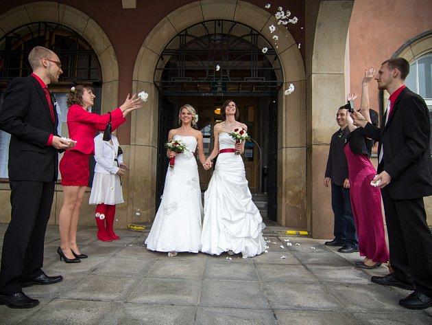 Ve Středočeském kraji si homosexuální páry pro uzavření registrovaného partnerství vybírají třeba hradby v Berouně nebo zámek Loučeň. Ilustrační foto.