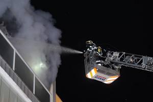 Požár bytu v Chodovické ulici.