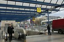 Stanice metra Vysočanská.