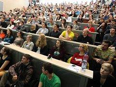 Univerzitní posluchárna. Ilustrační foto.