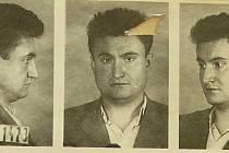 Tomkova fotografie pořízená při vzetí do vazby v prosinci 1959.