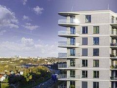 Bytový projekt Sky Barrandov navrhovali architekti Eva Jiřičná a Petr Vágner.