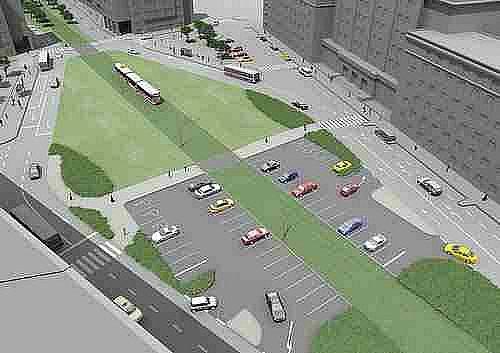 vizualizace dostavba trati v Podbabě