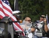 Spanilá jízda motocyklů Harley-Davidson centrem Prahy se konala 6. července v rámci akce Prague Harley Days 2019.