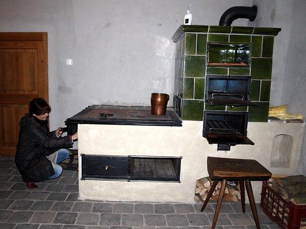 Kuchyně na zámku vRoztokách uPrahy.