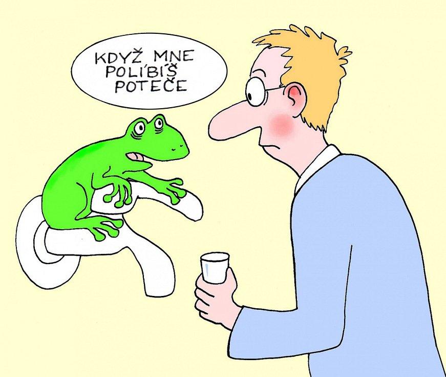 Výstava kresleného humoru na téma sucho - Jaroslav Dostál.