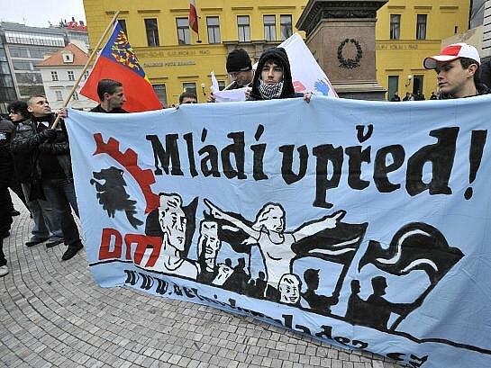 Shromáždění s názvem Proti politickým procesům v ČR uspořádala 17. listopadu v Praze Dělnická strana sociální spravedlnosti (DSSS).