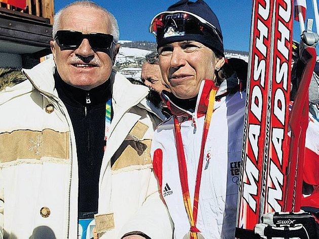 Václav Klaus a Kateřina Neumannová.