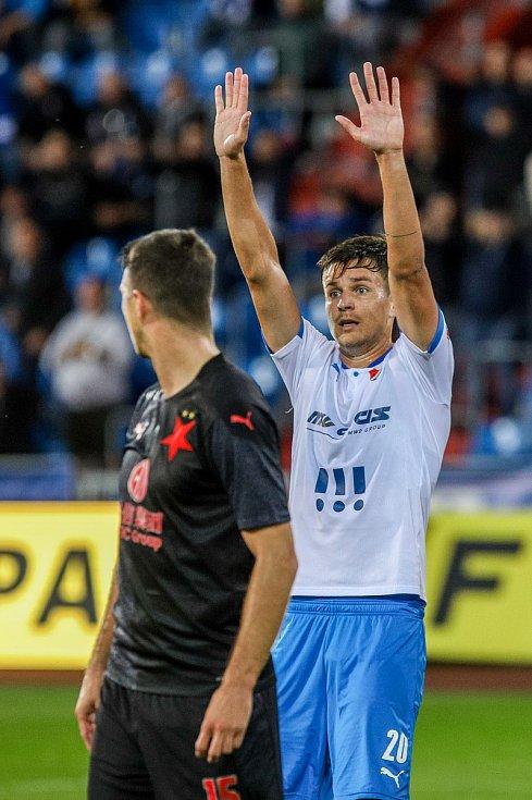 Utkání 6. kola fotbalové Fortuna ligy: FC Baník Ostrava - Slavia Praha, 4. října 2020 v Ostravě. Jakub Pokorný z Ostravy.