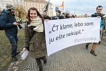 Desítky lidí vyjádřily nesouhlas s výroky A. Babiše na adresu redaktorů ČT
