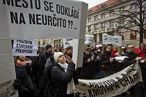 Shromáždění na podporu pražských stavebních předpisů se uskutečnilo ve čtvrtek 22. ledna 2015 před magistrátem.