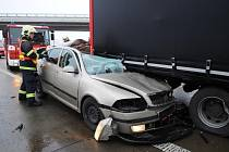 Tragická dopravní nehoda na Pražském okruhu R1.