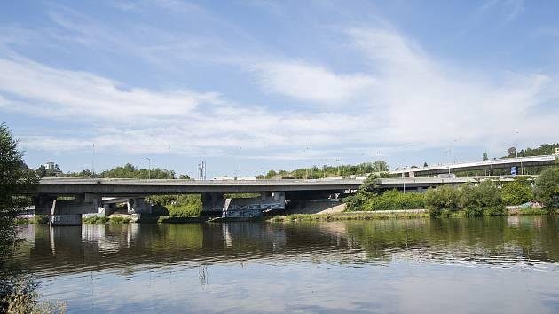 Opravy pražských mostů, Barrandovský most, 15.8.2017