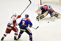 Semifinále play off první hokejové ligy - 1. zápas:  České Budějovice - Slavia Praha 1:3 (0:1, 1:1, 0:1).